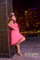 Diana Quinceanera professional photography in Downtown Los Angeles