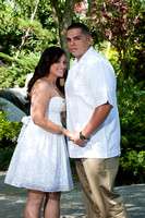 (Alex & Johanna) Engagement photo session at the Japanese Garden in Long Beach